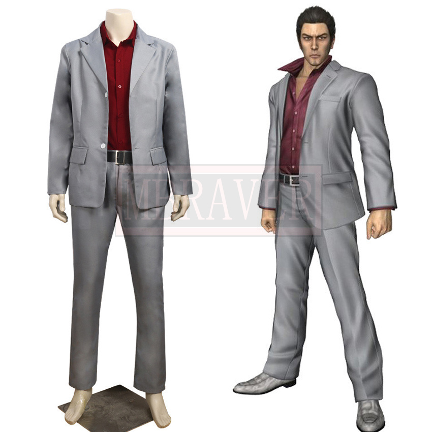 Yakuza Kiryu Kazuma Cosplay Costume Tailor Made Any Size