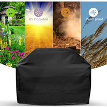 Honsene Heavy Duty Waterproof Barbecue Gas Grill Cover, 65-inch BBQ Cover, Special Fade and UV Resistant Material