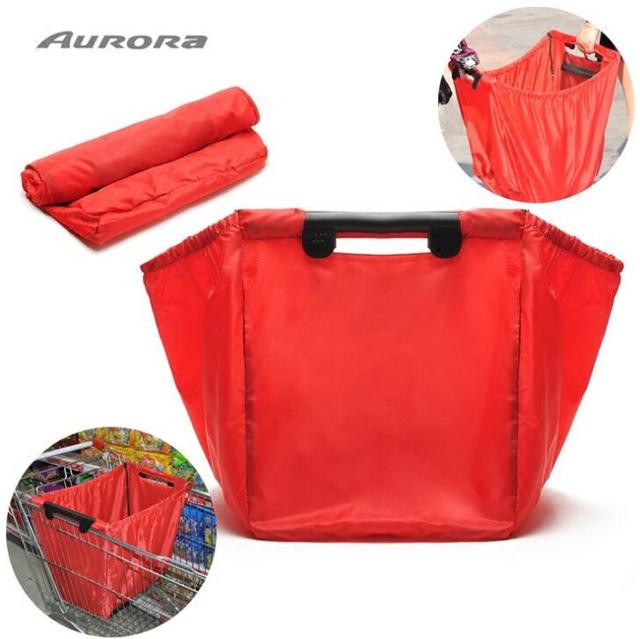green supermarket Shopping Bag Foldable Reusable Grocery Bags Large ... Reusable Grocery Bag Pattern