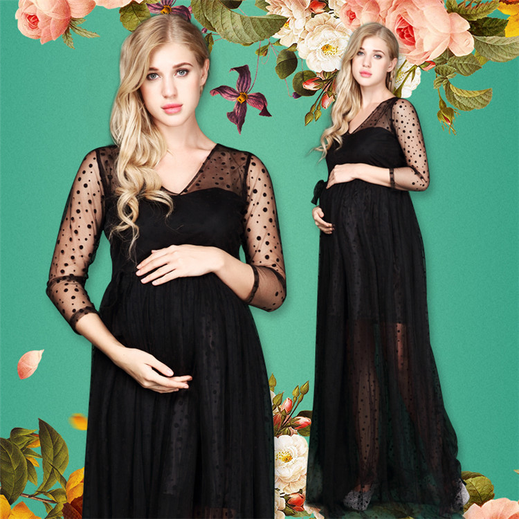 11#842 Europe and America Pregnant Women Clothes Photographic Clothing Art Photo clothing Studio Pregnant Women Dress 2016 women s clothing fashion in europe and the atmosphere bohemia elasticity knitted cultivate one s morality dress