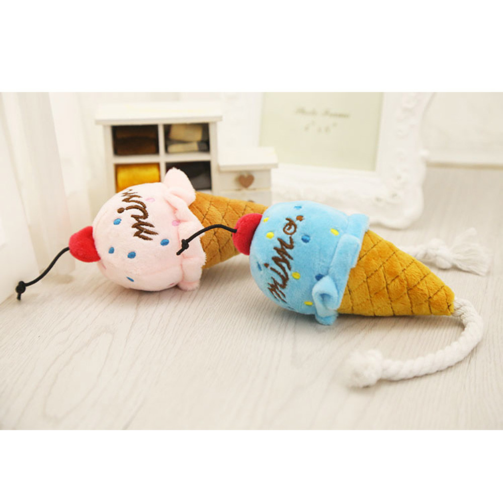 Tricks Fun toys Shocker Squeeze plush Soft Pink And Blue Cone Ice Cream Sound Toy Bread Kid Gift Funny toys Stuffed Toys