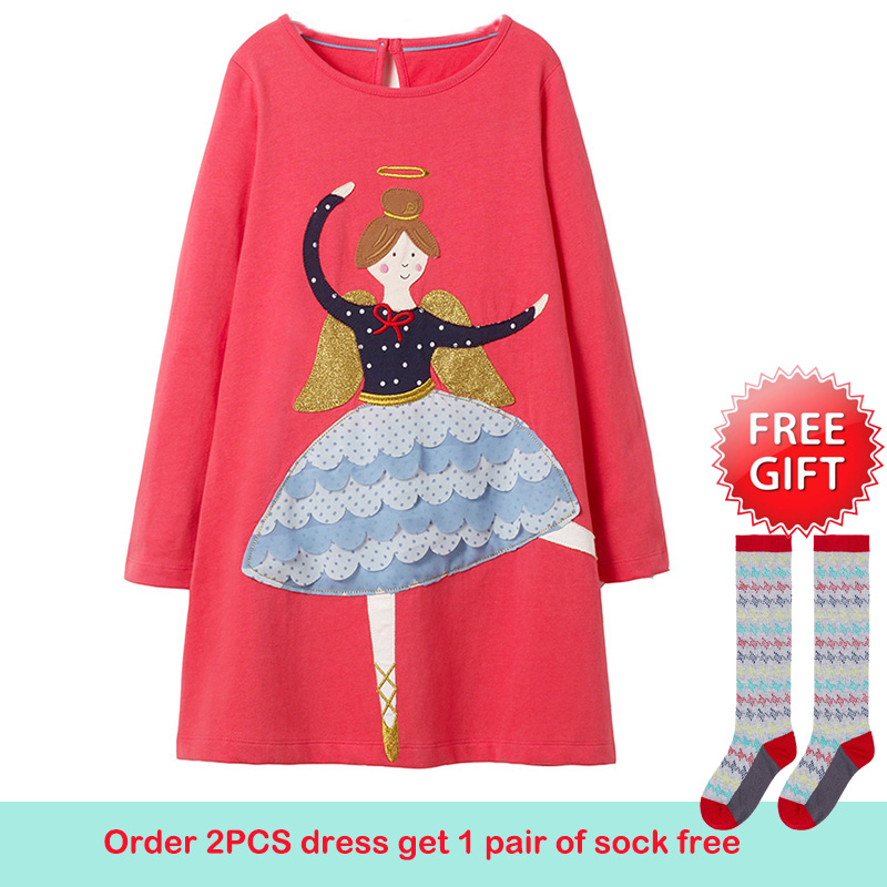Girls Dress Long Sleeve Baby Girls Clothes Unicorn Party Princess Dress Christmas Costume for Kids Clothing Children Dresses new year baby first christmas santa dress for girls winter snowman holiday children clothing christmas party tulle kids costume