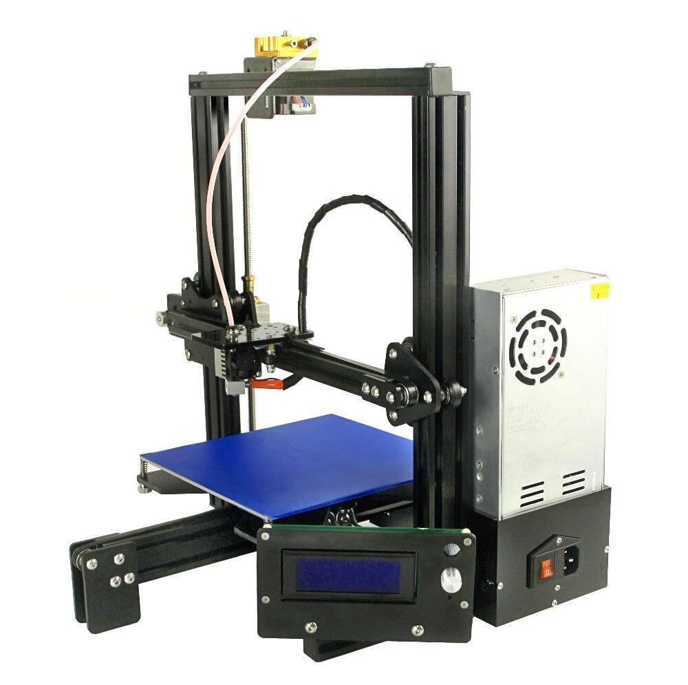 2018 grande impression size3D imprimante une extrudeuse tête rampes plus2 filament ABS PLA laser gravure E3D extrudeuse pas cher 3D imprimante kit