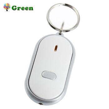 Genuine Whistle LED Light Torch Remote Sound Control Lost Key Finder Locator Remote Keychain Keyring With Whistle Claps