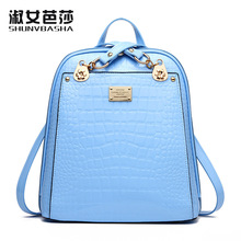Высокое качество Лето крокодил сумка из искусственной кожи рюкзак для девочек женские школьные сумки дорожные сумки 6 видов цветов