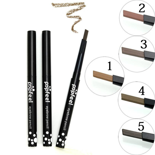 Popfeel Pro Women Makeup Single-head Rotary Brake Eyebrow Lasting Waterproof Not Blooming Easy To Color 5