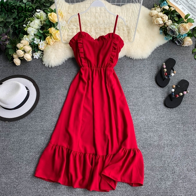 2019 Summer Solid Women Dress  2