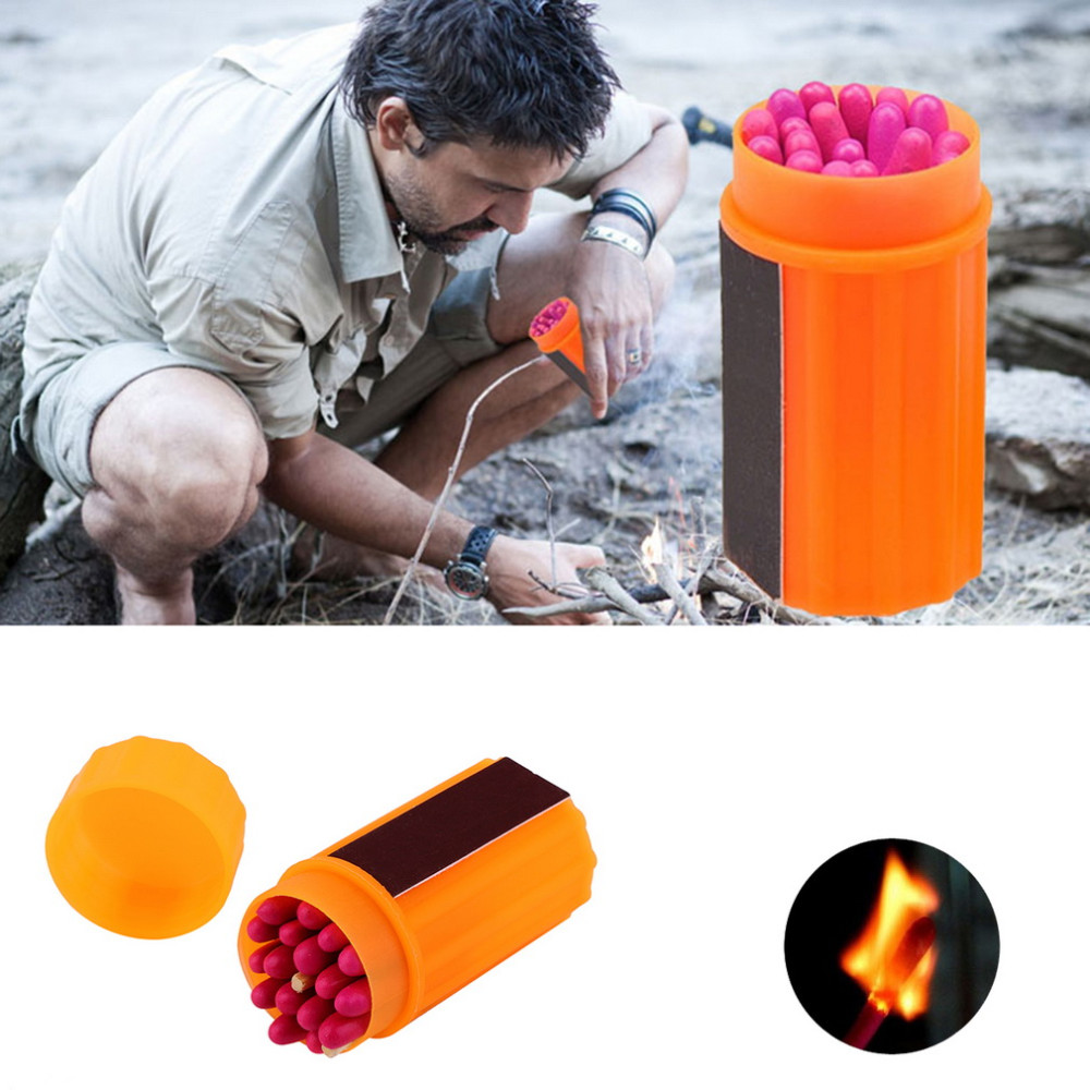 Matches Stormproof Waterproof Windproof Emergency Lighter Survival Tool Kit Gear Matches for Outdoor Sport Hiking Camping B1
