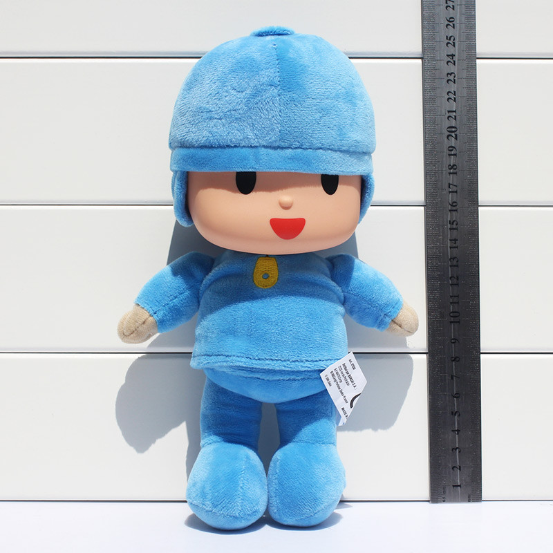 10inch/25cm Pocoyo New Band Plush Pocoyo Soft Plush Stuffed Figure Toy Doll