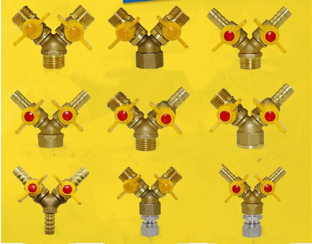 """free shipping G 1/2"""" tee gas valve  Brass Ball Valves  Pipe fittings"""