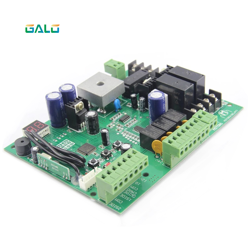 Image 2 - galo DC12V Swing Gate Control Board connect back up battery or solar system with remote control amount Optional-in Access Control Kits from Security & Protection