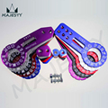Universal Anodized Aluminum Front & Rear Pair Racing Tow Hook Trailer Towing