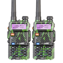 2PCS/LOT Hot Sell Camouflage 5W Dual Band 136-174/400-520MHZ Baofeng UV-5R Walkie Talkie Free Earphone