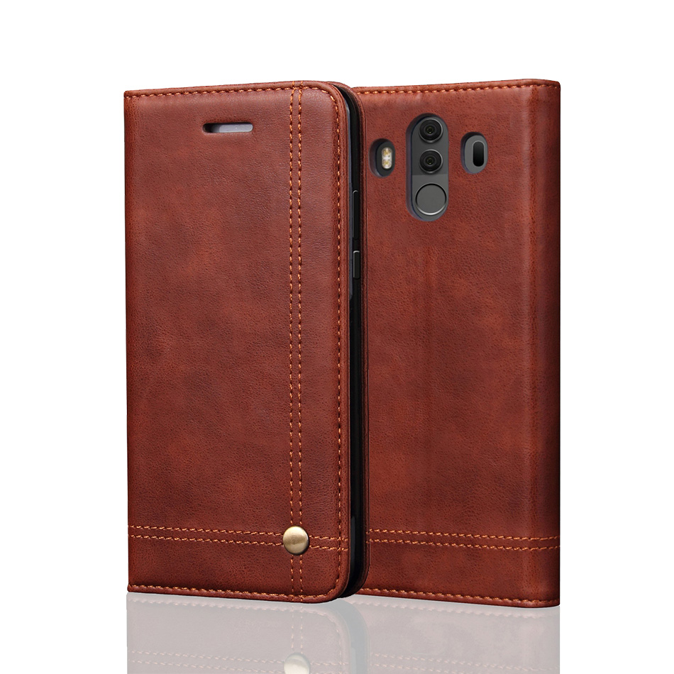 Luxury Flip Leather Phone Cases For Huawei Mate 10 Pro Case Wallet Pouch Style Card Slot Stand Cover For Huawei Mate 10 Pro