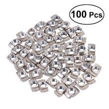 WINOMO 100Pcs/Pack European Aluminum Extrusions Slim T-Nut M5 Thread Aluminum Profile System Accessories (M5x10x6)