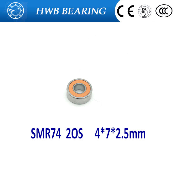 Free shipping 1PC 4X7X2.5mm  SMR74-2RS ABEC7  Stainless Steel Hybrid Ceramic Bearings/Fishing Reel Bearings SMR74 2OS free shipping 4x7x2 5 metal shields bearings abec 7 stainless steel smr74 zz