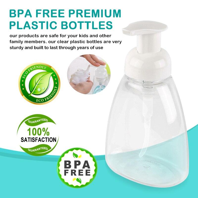 GTANG 12Pack 50 ml Foam Dispenser Bottle Plastic BPA Free Refillable Mini Foamin