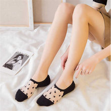 KingDeng Women Socks Fashion Design Ankle Summer Short Harajuku Korean Style Cute Funny Sock Color Simple Splice Transparent