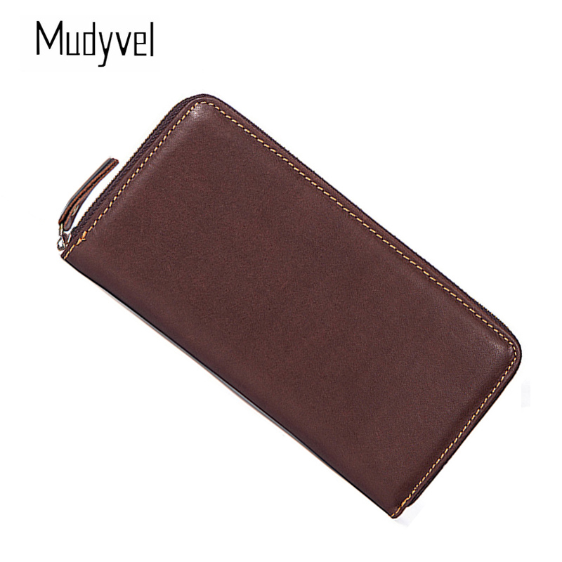 Wallet men leather genuine Alloy zipper opening Long package Cow leather clutch bag business purse midi dj контроллер samson graphite md13