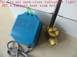 Image 3 - Robinet à bille en laiton motorisé 2 voies et 3 fils, DN15(G, 1/2 pouces), ac 220v, avec contrôleur dactionneur électrique