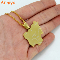 Gold Nigeria Map Pendant Necklaces Country Maps Africa Nigerians Map Jewelry 008421