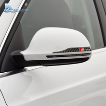 Airspeed S line Carbon Fiber Rearview Mirror Sticker for Audi A1 A3 A4 B8 A5 C6 A6 A7 A8 Q3 Q5 Q Anti-scratch Strip  Car Styling