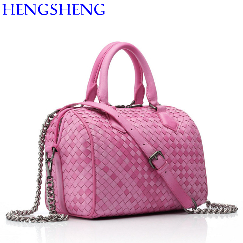 Hengsheng quality genuine leather women messenger bag women shoulder bag of sheepskin women handbag lady crossbody bag