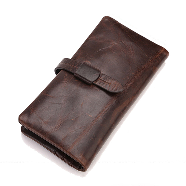 Men Wallets Vintage Famous Brand Designers Genuine Leather Money Pocket Coin Purses Holders Wax Oil Skin Carteras Male Clutch