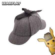 Movie Pokemon Detective Wool Cotton Hat Men Women Adults Kids Sherlock British Style Deerstalkers Cap Party Costume Accessories