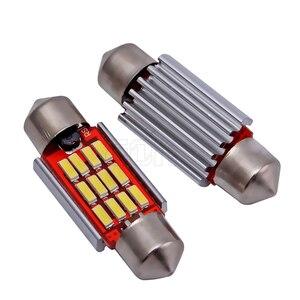 Image 4 - 100 pièces/lot, éclairage dôme, éclairage intérieur de voiture, ampoules c5w, plaque dimmatriculation 12v, Led 36mm 39mm 41mm 12SMD 4014 pièces/lot