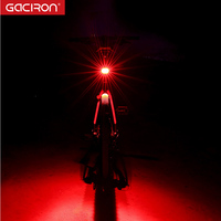 Gaciron Smart 60 Lumen Super Bright Rechargeable LED USB Mountain Bike TailLight Safety Warning Bicycle Rear