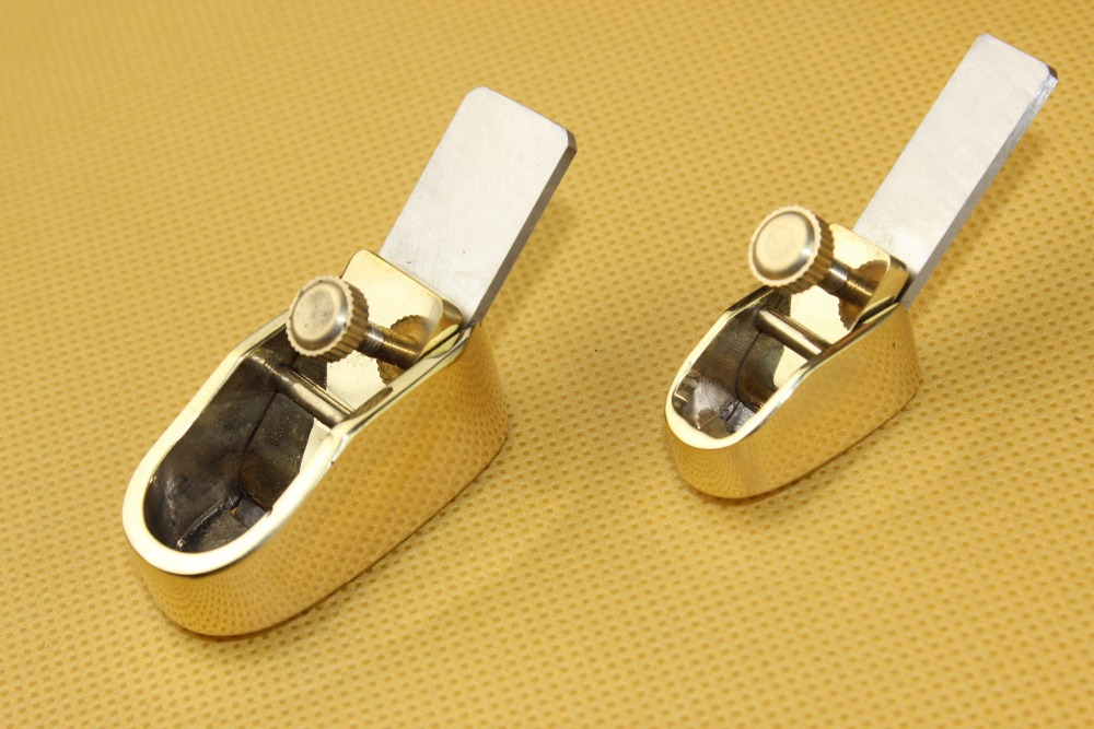 2 Pcs Various Convex Bottom Brass Planes, Violin/Cello Making Tools