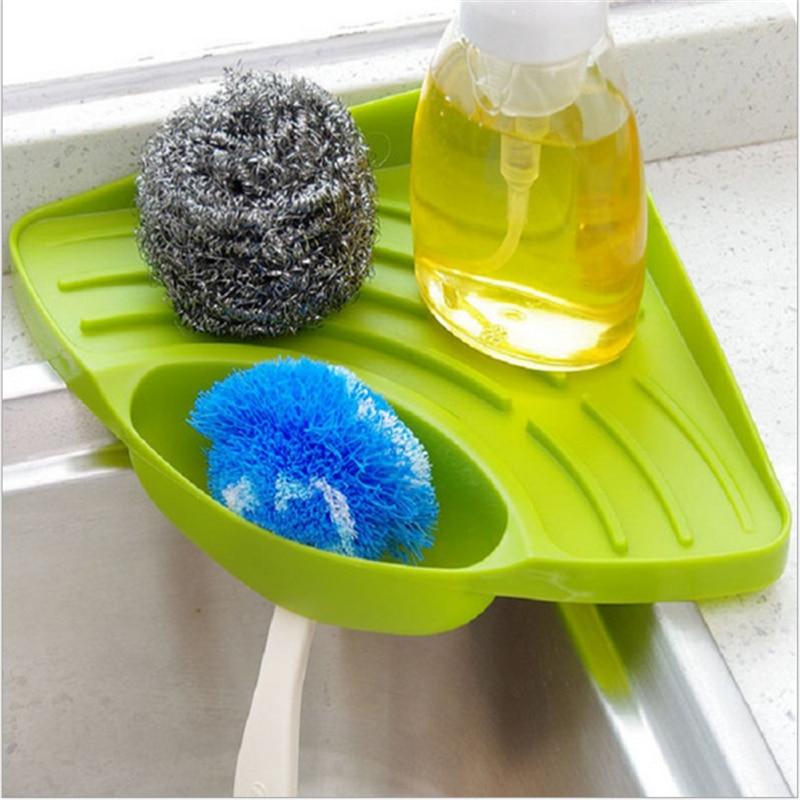 4 цвета кухонная раковина угловая стойка для хранения дренажная губка органайзер для ванной комнаты твердая цветная губка держатель Органайзер homesuplates
