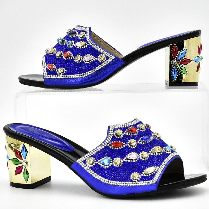 Avec Africain Haute Femmes pourpre Partie Ensembles Assorties Italiennes Chaussures Et Sacs Assortis Pour rouge Qualité Sac Dans Bleu Les fuchsia or xF6qPFwI