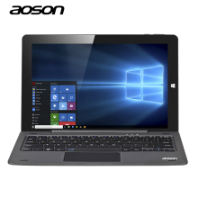 10.1 pulgadas ordenador portátil de windows 10 para tablet pc aoson r105 intel trail z8300 cereza 1280*800 64 gb/4 gb con teclado gps hdmi