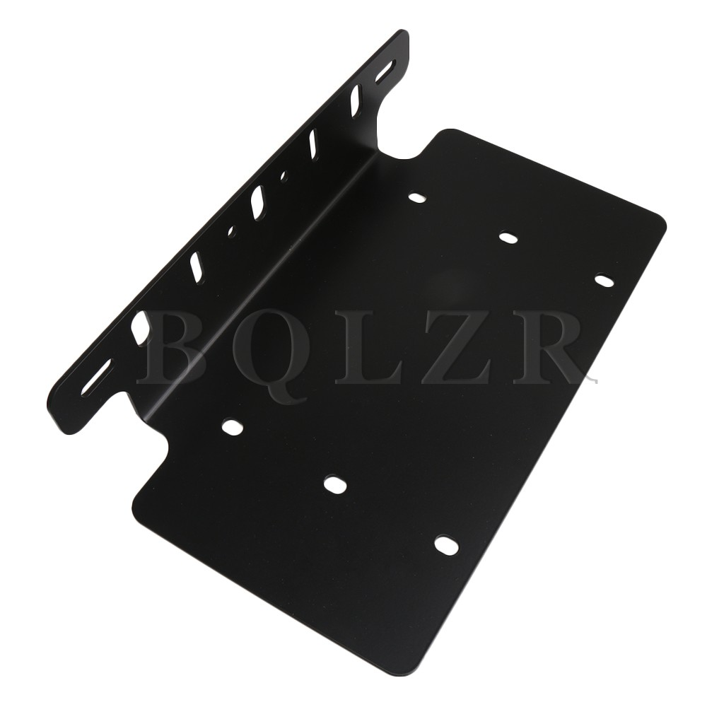 BQLZR Vehicle Accessories Aluminum Alloy Front Bumper Bars Hook License Plate Mounting Bracket for US Series Vehicles недорго, оригинальная цена