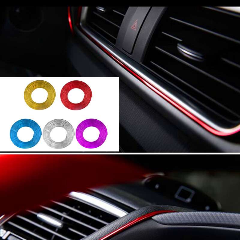 5M Car-Styling Sticker Case 3D Thread Stickers Decoration Strip For Dacia Duster Logan Sandero Lodgy Pads Interior Car Styling ceyes car styling mat case for dacia duster logan sandero stepway lodgy mcv 2 dokker auto interior accessories car styling 1pc