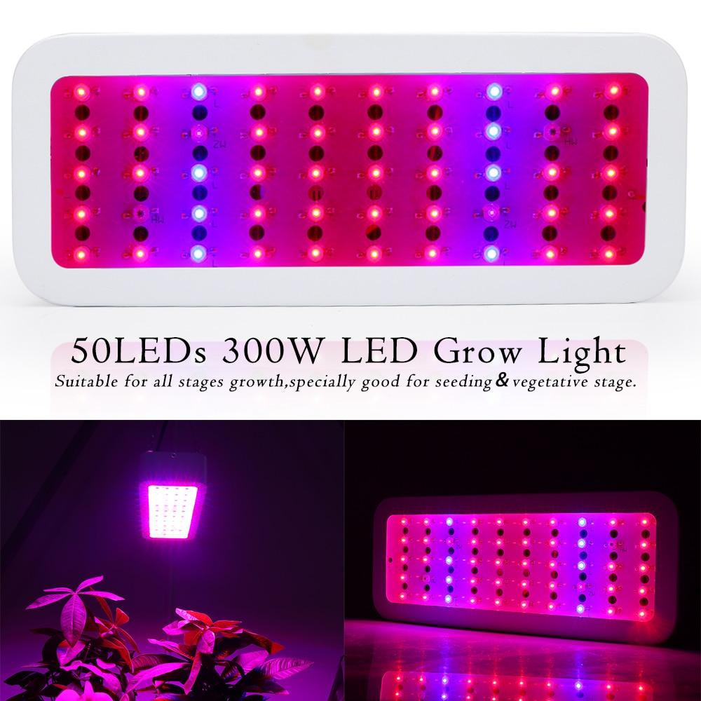 300W Full Spectrum LED Grow Light Phyto Lamp 50LEDs Fitolamp Plant Light for Seeds Flowers Cultivo