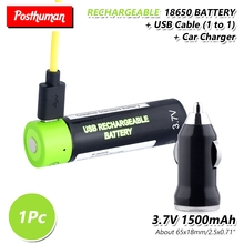 18650 USB Rechargeable Li-Po Battery 1500mAh With Toys Remote controller batteries Lithium Polymer li-ion Batteries Bateria