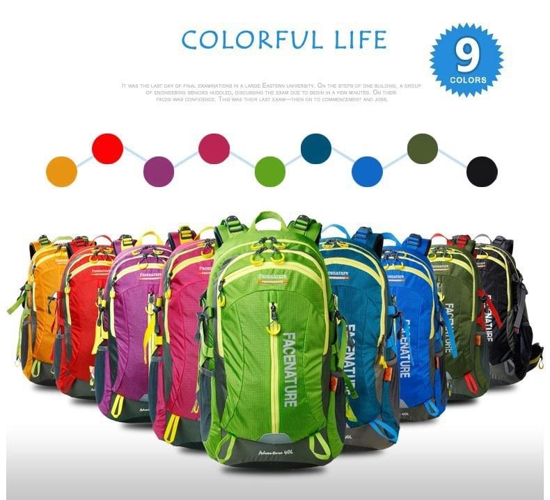 ФОТО Facenature 40L Climbing bag 50L Hiking bag Travel bag Climbing backpack Hiking Backpack Travel Backpack free shipping