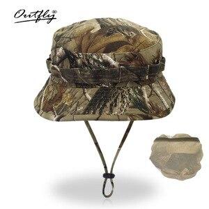 Image 5 - Outfly 디지털 위장 육군 모자 야외 캠핑 남자 짧은 브림 모자 도매 들어 갔어 바이오닉 정글 모자 양동이 모자
