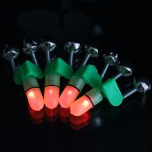 4 PCS/set LED Fishing Rod Bite Alarm Cahaya Merah Twin Lonceng Memancing klip Alat Lampu Sinyal dengan Gigitan Alarm Twin Bell Alarm Trackle(China)