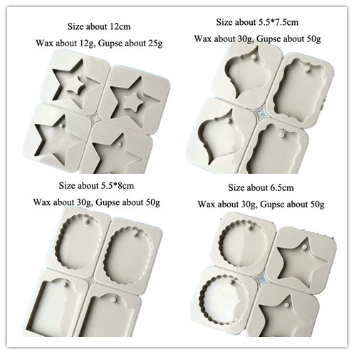 Aromatic Plaster tablets mold Handmade Gypsum Plate Car pendant Silicone molds