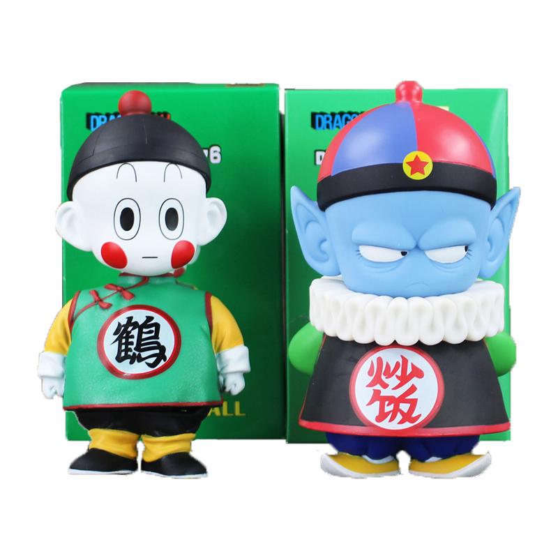 6 15.5cm Anime Dragon Ball Z Chiaotzu Pilaf Childhood PVC Action Figure Collection Model Toy Gift for Children anime one piece dracula mihawk model garage kit pvc action figure classic collection toy doll