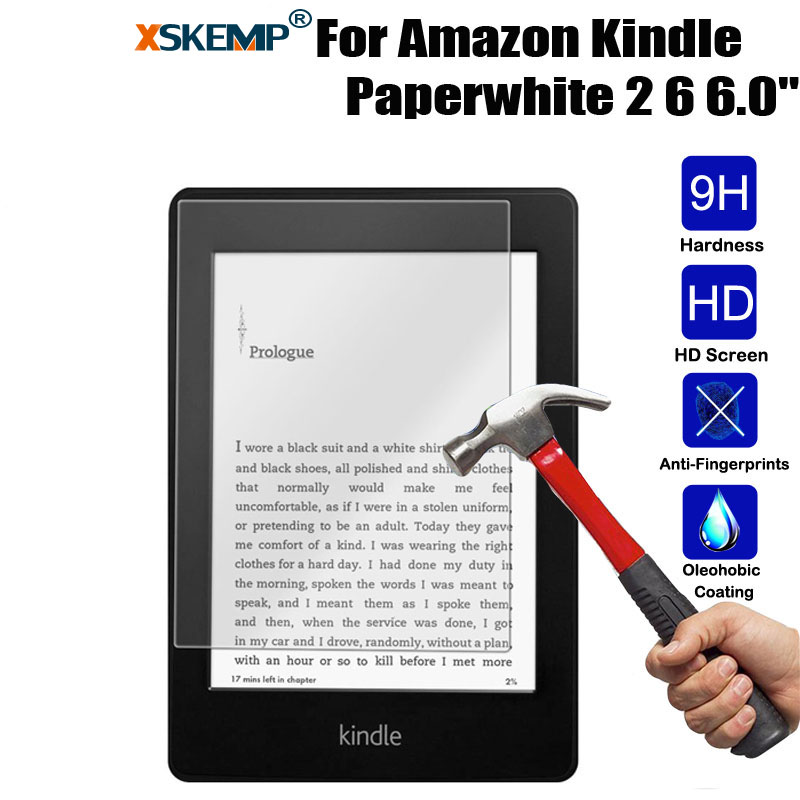 XSKEMP 9H Hardness Screen Protector Tempered Glass For Kindle paperwhite 2 Ultra Thin 0.3mm HD Transparent Protective Glass Film explosion proof ultra thin tempered glass screen protector for huawei honor 3c transparent