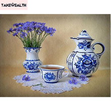 5D DIY diamond embroidery still life of tea diamond painting