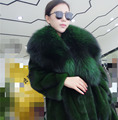 Woman's fur coat Mink fur coat Cross mink coat Long section Free Size