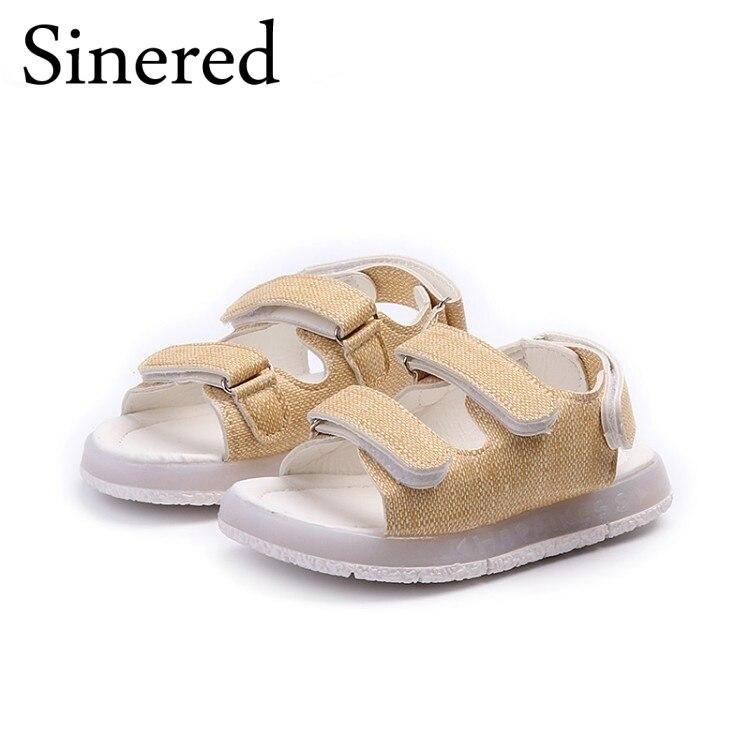 Sinered 2018 Summer Kids Lights Sandals Girls Boys Childrens shoes Chidlren Glowing Casual Cool Beach Sandals