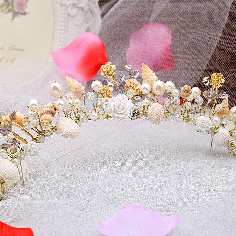 meritähti helmi kotilo kuoret morsiamen korut avioliitto studio - Muotikorut - Valokuva 3