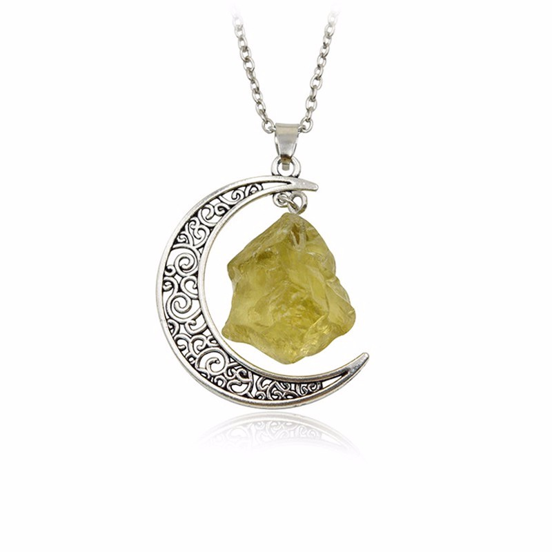 HTB1aMDmKXXXXXbRXXXXq6xXFXXXj - New Fashion Moon Vintage Irregular Natural Stone Pendant Necklaces Necklace Multi Spar Quartz Crystals Jewelry